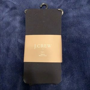 NWT J. Crew black tights - medium